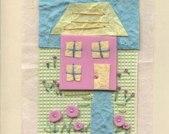 Greetings card with house design