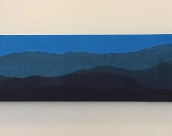 Blue Ridge Mountain batik blues