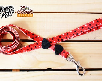 Personalized Leash Design Counting Stars