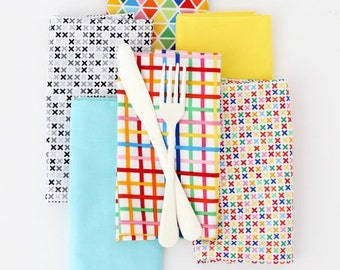 Party-Ready Mitered Corner Dinner Napkins! Easy PDF Sewing Pattern for Beginners