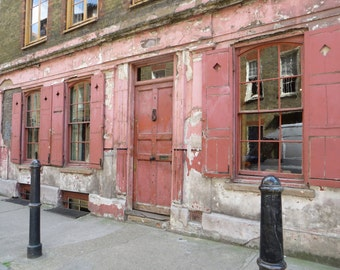 Old Building Shoreditch London Fine Art Photographic Blank Greetings Card