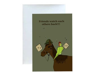 Friends Watch Each Others Back, Greeting Card
