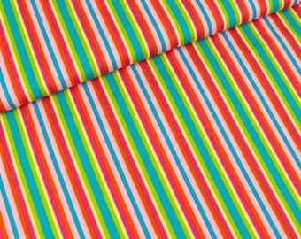 Cotton fabric strip rose-pink-lime (8.90 EUR/meter)