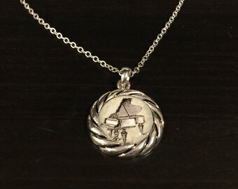 Piano Necklace With Chain