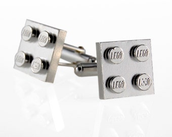 Lego Cufflinks in Sterling Silver