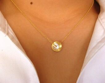 Little 14K Gold Filled Dainty Necklace - pendant necklace