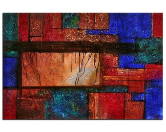 """Acrylic, abstract painting, Original Art by AG: """"RELIKTE"""", Gallery of modern & contemporary  Art The Artmakers"""
