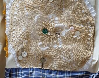 Collage Vintage Linens Tote Bag