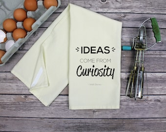 Kitchen Dish Towel - Tea Towel - Ideas Come From Curiosity