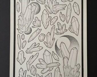 Original Artwork / Crystal Drawing