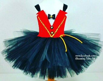 Circus Ringmaster Inspired Tutu Dress-Birthday, Party, Photo Prop, Tuxedo, Fancy dress