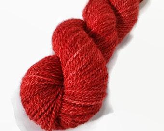 Hand Dyed Alpaca Yarn Sport Weight Alpaca Yarn Red Yarn