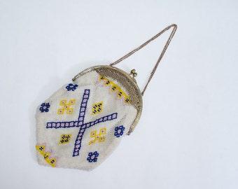 1920s vintage purse / beaded flapper purse / Century