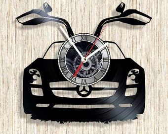 Mercedes vinyl record wall clock unique home decor and wonderful gift idea