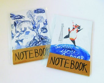 Two A6 notebooks for Five Pounds