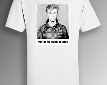 David Bowie «Mince blanc Duke» - t-shirt original