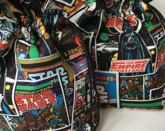Star Wars Birthday Gift Wrap, Star Wars Drawstring Bag, Star Wars Birthday Party Favors, Star Wars Gift, Star Wars Fan Gift, Boys Birthday