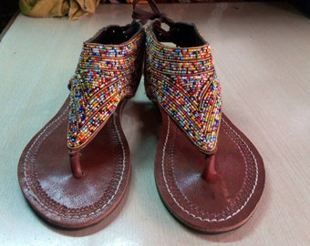 Women Sandals| Sandals For Women| Greek sandals| African Sandals| Leather Sandals| Kenyan Sandals| Beaded Sandals|Flip Flops| Tribal Sandals