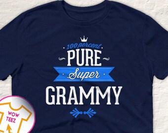 Grammy Shirt. 100% Pure Super Grammy.  Great Gift for Grammy