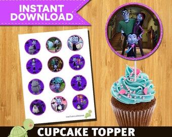 12 Vampirina Toppers - Vampirina Package - Vampirina Printable Party Circles - Instant download