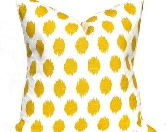 15% Off Sale Yellow pillow, Yellow Pillow Cover, Yellow Throw Pillow, Polka Dot Pillow,  Decorative Pillow , Yellow Cushion Cover, Yellow to