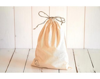 loose average purse size organic cotton