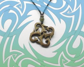 Tribal Walnut Necklace with Labradorite