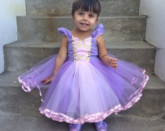 RAPUNZEL dress, princess Dress, Rapunzel costume, Rapunzel TUTU dress, Rapunzel birthday party dress, handmade Rapunzel dress, Tangled party