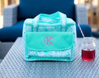 Personalized Cooler Bag ~ Personalized Insulated Cooler ~ Monogrammed Cooler ~ Poolside Palm Cooler ~ Insulated Bag ~ FREE Personalization