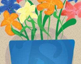 Flowers in Vase digital download