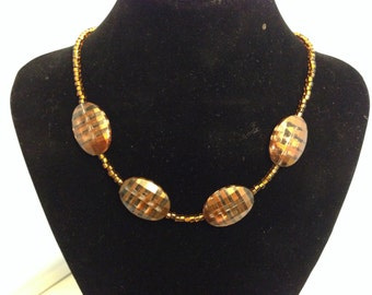 Gold Beaded Necklace 128