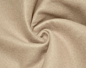 """Abby LIGHT TAUPE 72"""" Acrylic Felt Fabric by the Yard - 10030"""