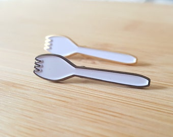 Spork Pin Silver or Gold