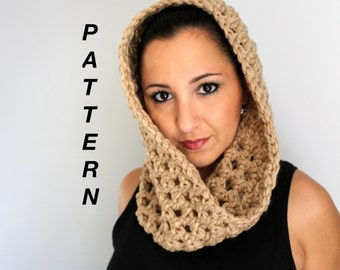 Quick and Easy Crochet Cowl Pattern,  PDF Instant Download for The Open Stitch Cowl