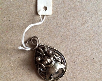 Balinese silver Jewelry-Vintage pendant-dragon-silver-Traditional