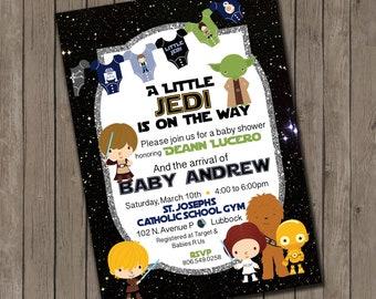 Star Wars inspired Baby Shower Invitation- high resolution digital file