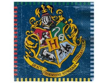 Harry Potter Napkins - 33cm,wedding,birthdays,engagements,wedding,harry potter decor,harry potter decorations,hogwarts,gryffindor,magic