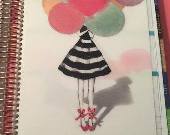 DASHBOARD Stripe Skirt and Balloons for use with Erin Condren or Happy Planner