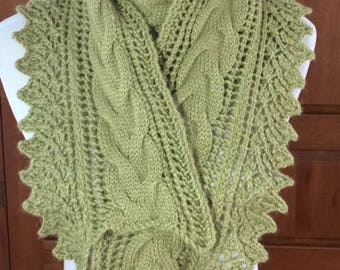 Hand-knit scarf