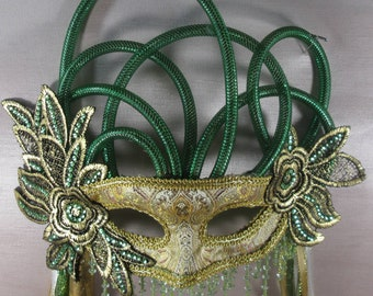 Mardi Gras, Carnival, Party, Ballroom Hand Crafted Original One of a Kind Mask