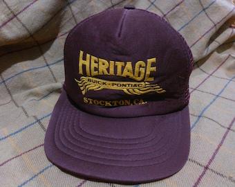 Vintage Pontiac Cap Hat Vintage Pontiac Trucker Cap Hat by Otto