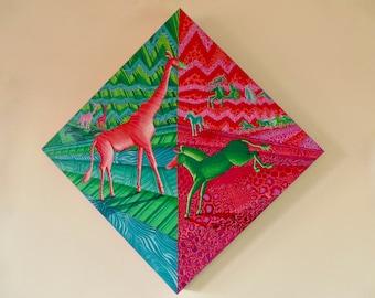 Pink Giraffe's and Green Zebras