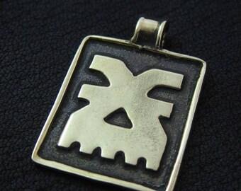 Bronze Khorne pendant