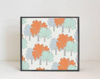woodland nursery art- boho art print- forest decor- nursery woodland art- tree print- nursery forest -tree decor- redtilestudio