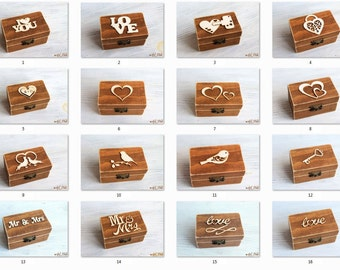 Ring Bearer Box, Wedding Ring Box, Personalized Ring Box, wedding ring holder, Wedding Ring Holder Pillow Bearer Box Wood Box Rustic wedding
