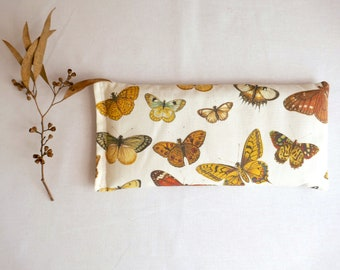 Mother's Day Eye Pillow, Lavender and Flax Seed Eye Pillow - Naturaliste Butterflies Scented Gift Relaxation Yoga Meditation