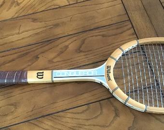 Vintage Wilson Wooden Tennis Racquet - Conqueror Model