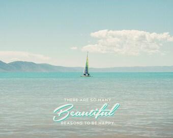 Beautiful reasons to be happy -Bear Lake Utah postcard