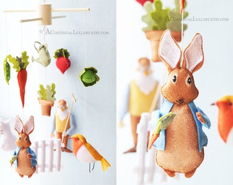 Peter Rabbit Baby Mobile No.2- Storybook Mobile by A Continual Lullaby