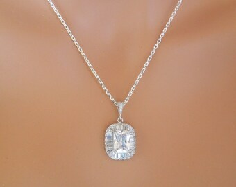 Bridal Jewelry set Crystal Bridal Necklace Set Crystal Bridal Earrings Crystal Wedding Necklace cubic zirconia Crystal wedding set JANA